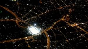 Das Städtische Stadion an der Grünwalder Strasse - der 60iger sagt auch, München Giasing dazu - aus der Luft. Foto: oepb