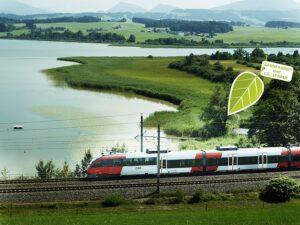 Es ist nicht nur eine Seefahrt lustig, sondern auch das Reisen mit der Bahn und in diesem Falle mit den ÖBB. Hier ein Blick ins Land. Foto: ÖBB Philipp Horak