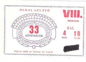 25.000 Österreicher waren am 29. April 1973 im Budapester Nepstadion live dabei. Anbei die offizielle Match-Karte. Sammlung: oepb