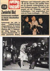 """In """"Zweierlei Blut"""" von 1984 schlich sich Horst Schimanski in einen MSV-Fanklub ein. Die kamen ihm auf die Schliche, verprügelten ihn und verfrachteten """"den Bullen"""" splitternackt ins Duisburger Wedaustadion. In einer Hauptrolle ist übrigens auch Dietmar Bär zu sehen, der nun für den WDR am Tatort Köln ermittelt."""