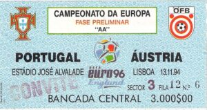 Matchkarte vom 13. November 1994. Sammlung: oepb