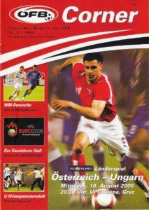 Offizielles ÖFB-Matchprogramm vom letzten Aufeinandertreffen gegen Ungarn 2006 in Graz. Sammlung: oepb