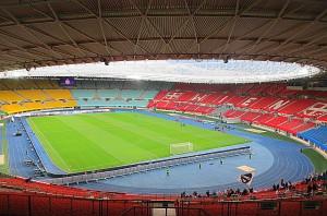 Oeuvre gestern Abend knapp eine halbe Stunde vor Spielbeginn. Sag mir wo die Fans sind, wo sind sie geblieben ... Foto: oepb