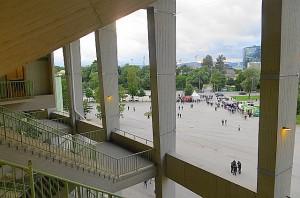 Bonjour tristesse draussen vor den Stadion-Toren. Es war zum Schämen. Foto: oepb