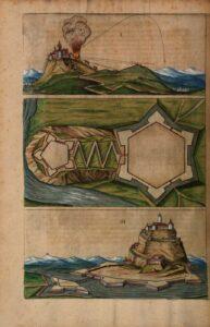 Illustration aus einem historischen Standardwerk zum Festungsbau: Daniel Specklin, 1589. Foto: Österreichische Nationalbibliothek