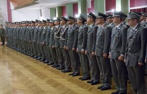 ... der Festakt wurde jedoch mit der ganzen Pracht einer Militärischen Parade vollzogen. Beide Fotos: Bundesheer / Simader