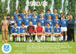 Eine Bomben-Truppe war die Vize-Meister-Mannschaft des SK VÖEST Linz von 1980, hier vor der Saison 1980/81. Sammlung oepb