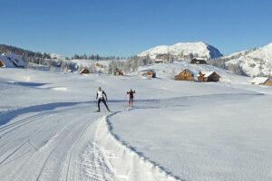 Die Wintersaison 2016/17 hat im Ausseerland-Salzkammergut bereits mit Langlaufen auf der Tauplitzalm begonnen. Foto: Helmut Fuchs