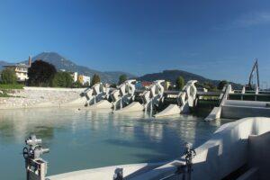 Blick auf eine Wasserkraftanlage. Foto: RENEXPO