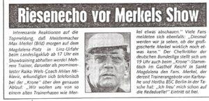 Faksimile OÖ-Kronen-Zeitung vom 21. März 1983.