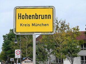 Das Ende einer langen Reise. In Hohenbrunn bei München ...