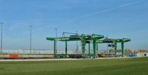 Blick auf das Güterzentrum Wien Süd/Terminalbereich. Foto: ÖBB / Robert Deopito