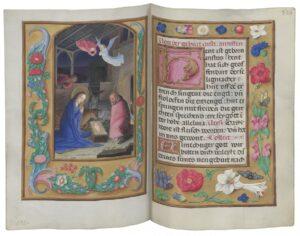Christi Geburt: Hortulus Animae (Seelengärtlein) (dt.), Flandern (Simon Bening und Atelier), zwischen 1510 und 1524. Foto: ÖNB