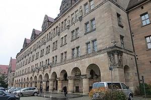 Blick auf den Justizpalast Nürnberg. Foto: oepb