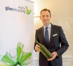 AGR Geschäftsführer Dr. Harald Hauke. Foto: Austria Glas Recycling/Wolfgang Fürst