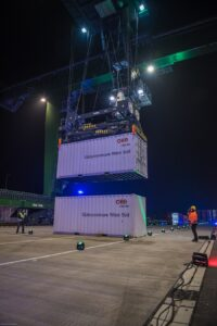 Am 5. Dezember 2016 wurde das Güterzentrum Wien Süd feierlich eröffnet und seiner Bestimmung übergeben. Foto: Dumforths Container