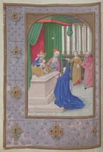 Darstellung des Herrn, Stundenbuch für König Ferdinand I. (1503  1564) (lat.), Flandern, um 1530. Foto: ÖNB