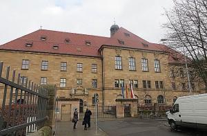 Blick auf das Memorium Nürnberger Prozesse, in dem der Saal 600 untergebracht ist, ist ein Nebentrakt des Justizpalastes. Foto: oepb
