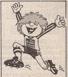 Stopperl, so hieß der kleine Kerl, der Mitte der 1980er Jahre durch diese Wahl begleitete. Faksimile Kronen Zeitung