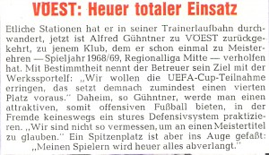 Faksimile vor der Spielzeit 1976/77. Sammlung: oepb