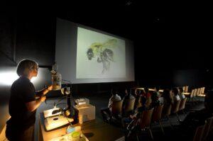Anhand einer Mikrolabor-Show lernen die Kinder vermehrt die Fauna und Flora kennen und schätzen. Foto: Rita Newman