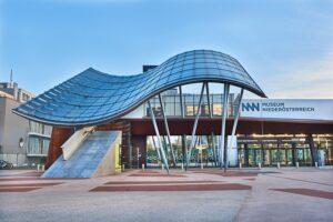 Blick auf das Museum Niederösterreich zu St. Pölten: Foto: Klaus Engelmayer