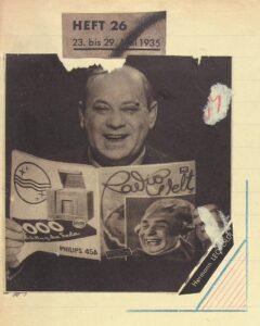 Hermann Leopoldi wirbt für den Rundfunk. Bild: Mandelbaumverlag