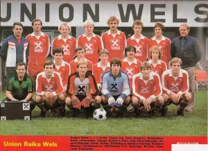 Der FC Union Wels im Sommer 1981. Dieses Team stieg ins Oberhaus auf. Foto: privat / Sammlung oepb