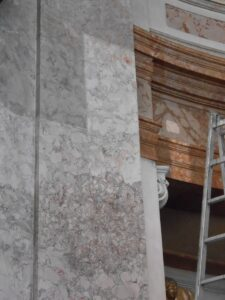 Die Restaurierungsarbeiten schritten zügig voran. Foto: Architekt DI Georg Töpfer