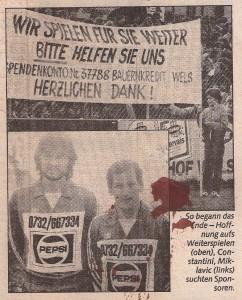 Alle Spendenaufrufe nützten nichts. Faksimile OÖ-Kronen Zeitung vom 1. Februar 1984