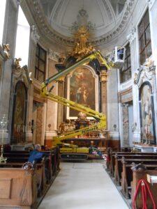 Nach den Abschluss-Arbeiten der Restaurierungen steht die Schlosskapelle Schönbrunn den Besuchern wieder uneingeschränkt zur Verfügung. Foto: Architekt DI Georg Töpfer