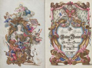 Gebetbuch Maria Theresia gewidmet, Handschrift koloriert, 1744. Foto: Österreichische Nationalbibliothek