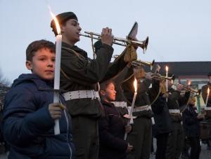 Immer wieder ein akustischer Gehör-Genuss ist der Klang des Großen Österreichischen Zapfenstreiches, diesmal feilgeboten von der Militärmusik OÖ. Foto: Bundesheer / Simader