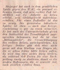 """Faksimile SPORT SCHAU-Kolumne """"Hinter den Barrieren"""" vom 3. April 1946. Sammlung: oepb"""