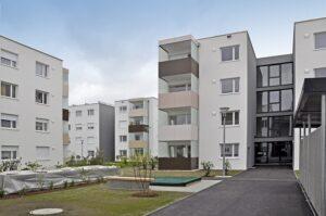 Die neue Stadtvilla zu Eferding in Oberösterreich wurde am 19. April 2017 an die neuen Mieterinnen und Mieter übergeben. Foto: GIWOG
