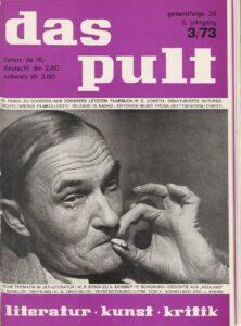 """Zeitschrift """"Das Pult"""", Cover mit Heimito von Doderer, 1973. Foto: Österreichische Nationalbibliothek"""