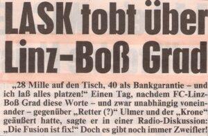 Zeitungs-Ausschnitt der OÖ-Kronen-Zeitung vom 24. Mai 1997. Sammlung: oepb
