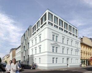 Frontansicht Humboldt- Ecke Schillerstraße. Foto: Bau & Boden