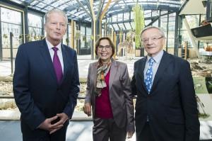 Von links: Reinhold Mitterlehner, Dagmar Schratter und Wolfgang Schüssel. Foto: Daniel Zupanc