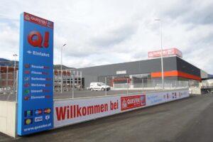 Heute, am 11. Mai 2017 eröffnet QUESTER einen neuen Standort in Leoben. Unmittelbar neben der Autobahnauffahrt wird der BauProfi von hier aus auch den Bezirk Bruck/Mur bedienen. Foto: QUESTER