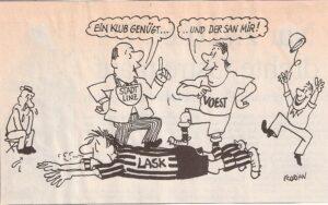 Zeitungs-Faksimile vom Frühjahr 1990. Sammlung: oepb