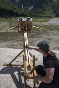 Ein Cremona-Geschütz beim scharfen Schuß. Foto: Bundesheer / Simader