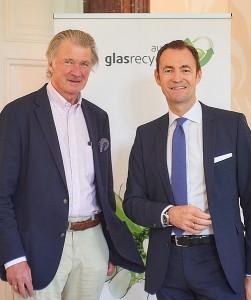 Gast-Referent Anders Wijkman (links) und AGR-Geschäftsführer Harald Hauke anlässlich des 9. Austria Glas ReCIRCLE am 21. Juni 2017. Foto: AGR / Harald Fürst