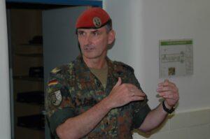 Der Deutsche Brigadegeneral Jörg See anläßlich seiner Stippvisite in Oberösterreich. Foto: BMLVS/ 4.PzGrenBrig