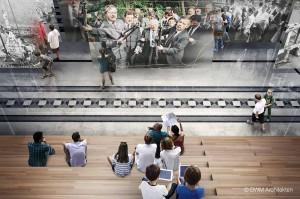 Schaubild Einführungsraum. Foto: BWM Architekten