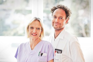 Wundmanagement-Team im Göttlicher Heiland Krankenhaus: DGKS Michaela Krammel und OA Dr. Markus Duft. Foto: KHGH