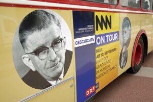 """Acht Wochen lang ist nun """"Geschichte on Tour"""". Foto: Museum Niederösterreich"""