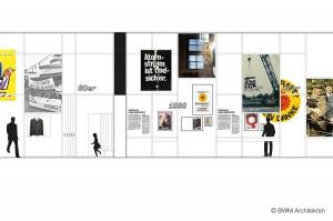 Ausschnitt des Zeitstrahls. Foto: BWM Architekten
