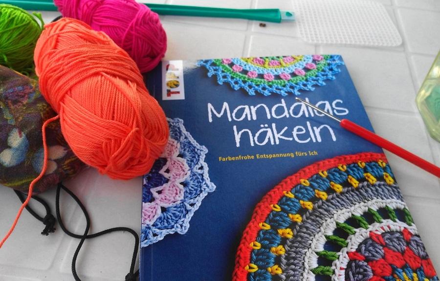 Mandalas Häkeln Farbig Bunt Entspannend Rund Redaktion