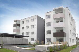 Die neue Stadtvilla zu Eferding in Oberösterreich wurde am 26. September 2017 an die neuen Mieterinnen und Mieter übergeben. Foto: GIWOG